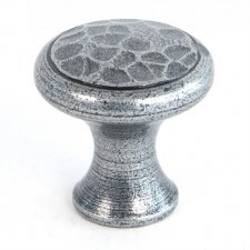 From The Anvil Beaten Cupboard Knob Pewter Small