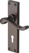 Heritage Bedford Door Lock Handles V810 Matt Bronze