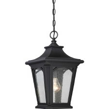 Quoizel Bedford Outdoor Chain Lantern Mystic Black