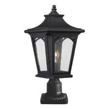 Quoizel Bedford Outdoor Pedestal Light Mystic Black