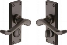 Heritage Bedford Privacy Door Handles V825 Matt Bronze