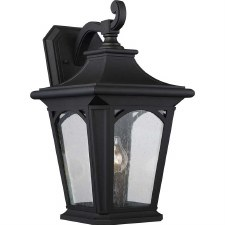 Quoizel Bedford Outdoor Wall Lantern Large Mystic Black