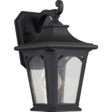 Quoizel Bedford Outdoor Wall Lantern Small Mystic Black