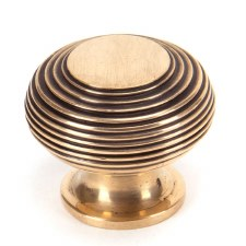 From The Anvil Beehive Cabinet Knob Polished Bronze Large
