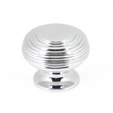 From The Anvil Beehive Cabinet Knob Polished Chrome Large