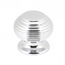 From The Anvil Beehive Cabinet Knob Polished Chrome Small