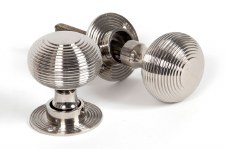 From The Anvil Beehive Mortice or Rim Door Knobs Polished Nickel
