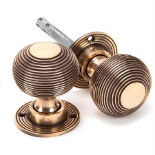 From The Anvil Beehive Mortice or Rim Door Knobs Polished Bronze