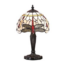 Interiors 1900 Beige Dragonfly Intermediate Tiffany Table Lamp