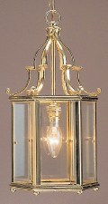 Belgravia Small Pendant Lantern Polished Brass