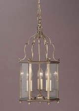 Belgravia Medium Pendant Lantern Antique Brass