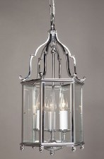 Belgravia Medium Pendant Lantern Polished Chrome