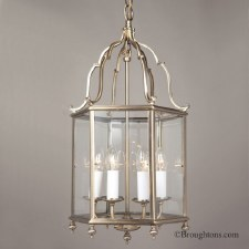 Belgravia Large Pendant Lantern Antique Brass