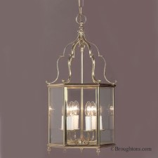 Belgravia Large Pendant Lantern Polished Brass