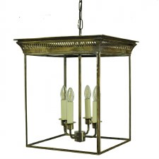 Belgravia Hanging Lantern Large Light Antique