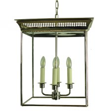 Belgravia Hanging Lantern Large Polished Nickel