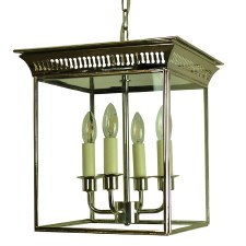 Belgravia Hanging Lantern Medium Polished Nickel