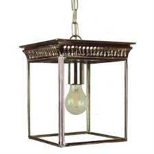 Belgravia Hanging Lantern Small Polished Nickel