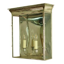 Belgravia Wall Lantern Large Polished Nickel