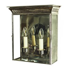 Belgravia Wall Lantern Medium Polished Nickel