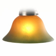 Bell Acid Etch Burnt Amber Green Edge Shade 18cm
