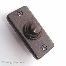 Aston Bell Push Rustic Solid Bronze
