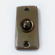 Aston Solid Bronze Door Bell Push Polished Solid Bronze Antiqued