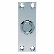 Slim Door Bell Push Polished Chrome