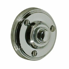 Victorian Constable 632 Door Bell Push Polished Nickel