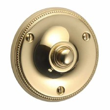 "Regency Princess Bell Push 3"" Polished Brass Unlacquered"