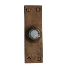 Heritage Bell Push RBL348 Solid Rustic Bronze