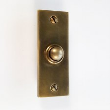 Brassart Constable 624 Door Bell Push Hand Aged Brass