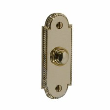 Regency Princess 905 Door Bell Push Polished Brass Unlacquered