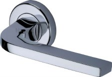 Heritage Bellagio Rnd Rose Door Handles V2015 Polished Chrome