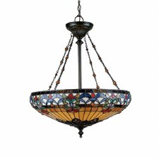 Quoizel Belle Fleur Tiffany Pendant Light Vintage Bronze