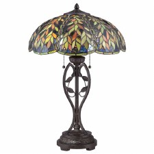 Quoizel Belle Tiffany Table Lamp Vintage Bronze