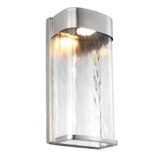 Feiss Bennie LED Wall Light Large Painted Brushed Steel