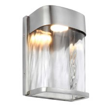 Feiss Bennie LED Wall Light Small Painted Brushed Steel