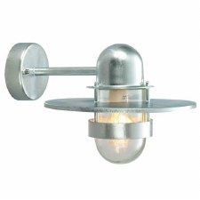 Elstead Bergen Outside Wall Light Galvanized