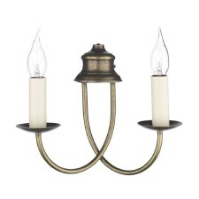 David Hunt BE28 Bermuda Double Wall Light Aged Brass