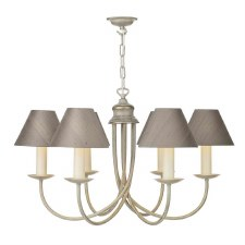 David Hunt BE69 Bermuda 6 Light Pendant Cream/Gold