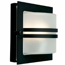 Elstead Bern Flush Outdoor Wall Light Black