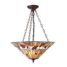 Interiors 1900 Bernwood Tiffany 3 Chain Ceiling Light