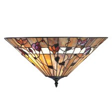 Interiors 1900 Bernwood Tiffany Flush Ceiling Light