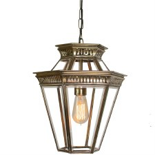 Bevelled Glass Lantern Renovated Brass