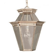 Bevelled Glass Lantern Nickel