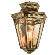 Bevelled Passage Wall Lantern Polished Brass Unlacquered