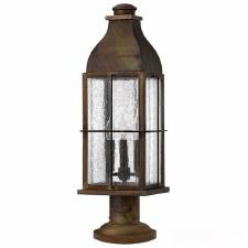 Hinkley Bingham Pedestal Lantern Light Antique Brass