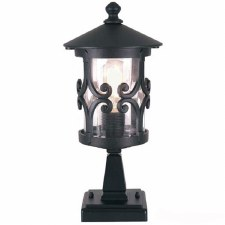 Elstead Hereford Pedestal Lantern Light Black