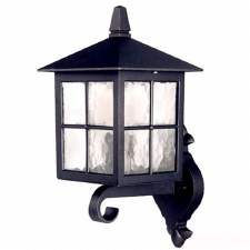 Elstead Winchester Up Outdoor Wall Light Lantern Black
